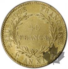 FRANCE-1802-AN XIA-40 FRANCS Or