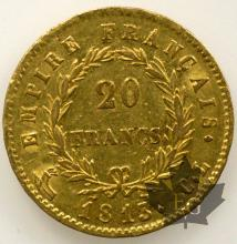 FRANCE-1813CL-20 FRANCS-TTB-SUP