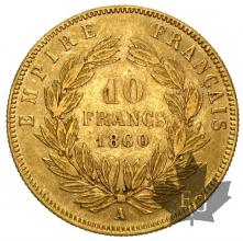 FRANCE-1860A-10 FRANCS-prSUP
