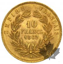 FRANCE-1862A-10 FRANCS-SUP-FDC