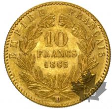 FRANCE-1865BB-10 FRANCS-pr SUP