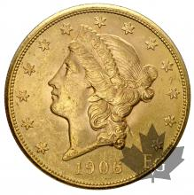 USA-1906S-20 DOLLARS-SUP