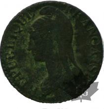 FRANCE-1799-AN 9G-5 DENTIMES-TB
