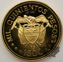 COLOMBIE-1968-1500 PESOS-PROOF