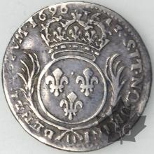 FRANCE-1696D-1/12 Ecu aux Palmes-Louis XIV