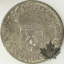 FRANCE-1645A-1/2 Ecu mèche courte-Louis XIV
