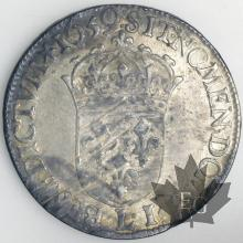 FRANCE-1659L-1/2 Ecu mèche longue-Louis XIV