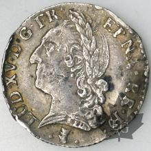 FRANCE-1773-1/10 Ecu de Béarn-Louis XV