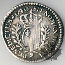 FRANCE-1740 9-1/20 Ecu-Louis XV
