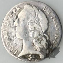 FRANCE-1744X-1/20 Ecu-Louis XV