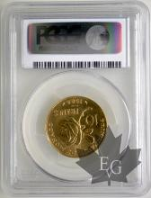 MONACO-1982-10 FRANCS ESSAI OR- GRACE- PCGS SP68