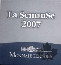 FRANCE-2007-LA SEMEUSE-5 EURO OR-MONNAIE DE PARIS
