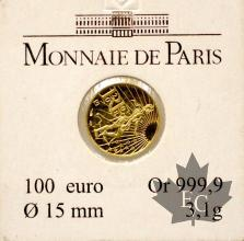 FRANCE-2008-100 EURO Or-MONNAIE DE PARIS