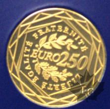 FRANCE-2009-250 EURO OR-PROOF-SANS BOITE