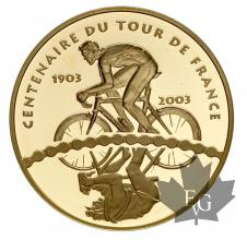FRANCE-2003-10 EURO OR- 100 ANS DE TOUR DE FRANCE