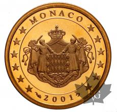 MONACO-2001-5 CENTIMES-BE-PROOF