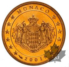 MONACO-2001-2 CENTIMES-BE-PROOF
