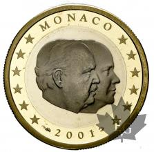 MONACO-2001-1 EURO-BE-PROOF