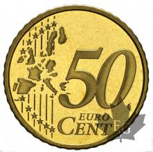 MONACO-2001-50 CENTIMES-BE-PROOF