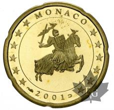 MONACO-2001-20 CENTIMES-BE-PROOF