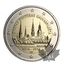 LETTONIE-2014-2 EURO COMMEMORATIVE-FDC