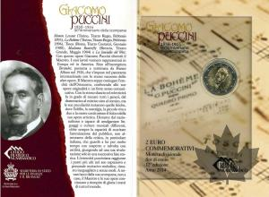 SAINT MARIN-2014- 2 EURO COMMEMORATIVE-PUCCINI