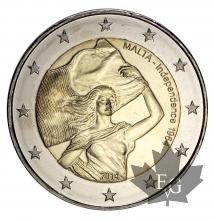 MALTE-2014-2 EURO COMMEMORATIVE 50e INDEPENDENCE