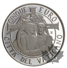 VATICAN-2014-5 EURO ARGENT-PROOF