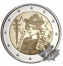 SLOVENIE-2014-2 EURO-Barbara Cilli-FDC