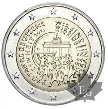 ALLEMAGNE-2015G-2 EURO-German Unity-FDC