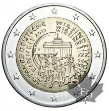 ALLEMAGNE-2015F-2 EURO-German Unity-FDC