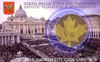 VATICAN-2015-50 CENT COINCARD-FDC