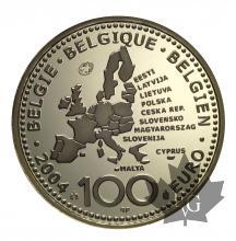 BELGIQUE-2004-100 EURO-PROOF
