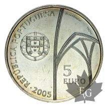 PORTUGAL-2005-5 EURO ARGENT-FDC