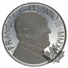 VATICAN-2015-5 EURO ARGENT-PROOF