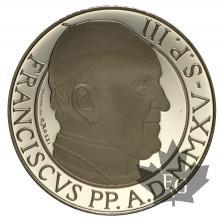 VATICAN-2015-100 EURO OR-PROOF