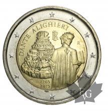 ITALIE-2015-2 EURO-COMMEMORATIVE-DANTE ALIGHIERI-FDC