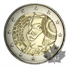FRANCE-2015-2 EURO COMMEMORATIVE-LIBERTÉ-FDC