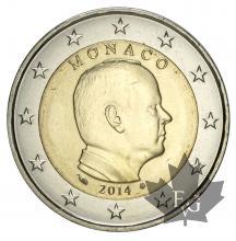 MONACO-2014-2 EURO-ALBERT II-FDC-UNC