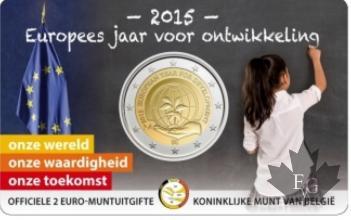 BELGIQUE-2015-2 EURO COMMEMORATIVE-COINCARD