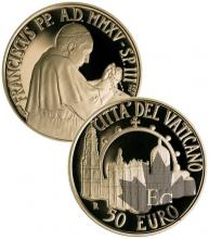 VATICAN-2015-50 EURO OR-PROOF
