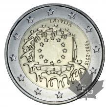 LETTONIE-2015-2 EURO-drapeau européen