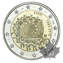 ESTONIE-2015-2 EURO DRAPEU EUROPEÉN
