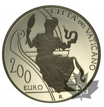 VATICAN-2015-200 EURO OR-PAPA FRANCESCO-PROOF