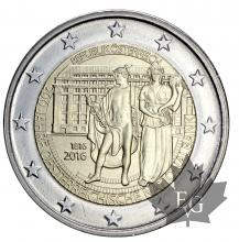 AUTRICHE-2016-2 EURO-COMMEMORATIVE-FDC