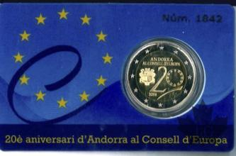 ANDORRA-2014-2 EURO COMMEMORATIVE-PROOF