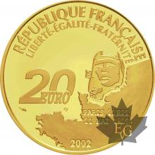 FRANCE-2002-20 EURO-1er VOL AU DESSUS DE L'ATLANTIQUE-PROOF