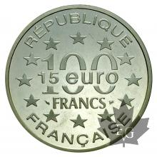 FRANCE-1997-100 FRANCS-15EURO-LUXEMBOURG-FDC