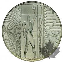ITALIE-2003-5 EURO ARGENT-L'Europa del lavoro-FDC