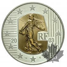 FRANCE-2003-5 EURO-OR ET ARGENT-FDC